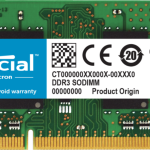 Memoria RAM DDR3 8GB Crucial laptop