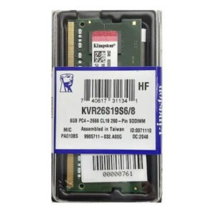 Memoria RAM DDR4 8GB Kingston laptop